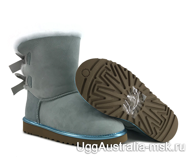 UGG Bailey Bow II Metallic Blue