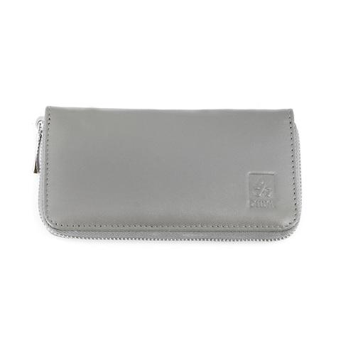 Маникюрный набор Dewal, 5 предметов, цвет серый, кожаный футляр