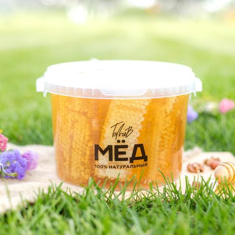 Соты с мёдом 2021  Ивановка в ведерке 3 литра