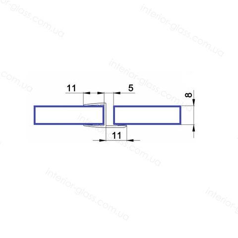 Уплотнительный профиль для душевых кабин HDL-201