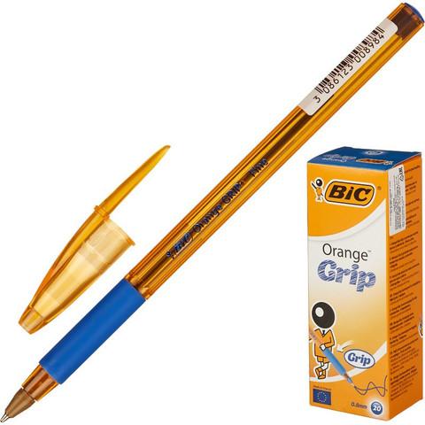 Ручка шариковая одноразовая BIC Orange grip fine синяя (толщина линии 0.3 мм)