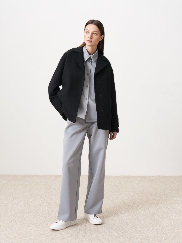 Куртка-пальто Манчестер с объемными рукавами