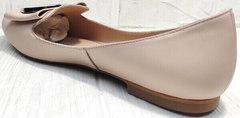 Нюдовые туфли лодочки на плоской подошве Wollen G192-878-322 Light Pink.