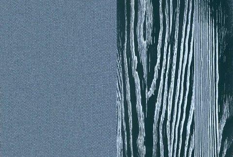 Ткань/Массив, Тетра Голубой/Серая эмаль с белой патиной (браширование)