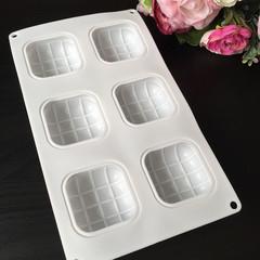 Силиконовая форма для выпечки Подушки пирожные 6в1