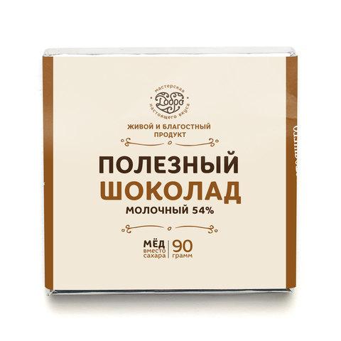 Шоколад молочный, 54% какао, на меду, (классический)