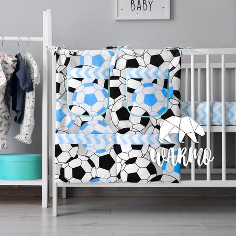 органайзер для ліжечка з футбольними м'ячами фото