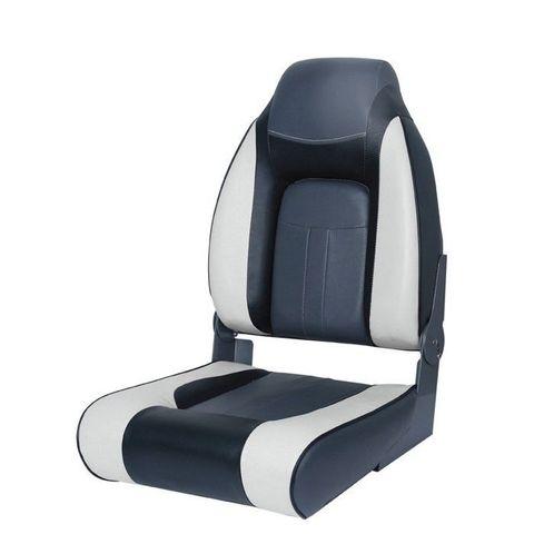 Сиденье мягкое складное Premium Designer High Back Seat, серо-черное