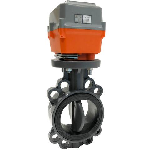 Дисковый поворотный затвор Aquaviva с электроприводом EPDM On-off AC220V d63 AC220В / 25523