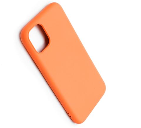 Чехол для iPhone 11 Софт тач мягкий эффект | микрофибра оранжевый