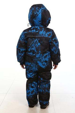 Костюм зимний детский Морозко синий (мембранная ткань)