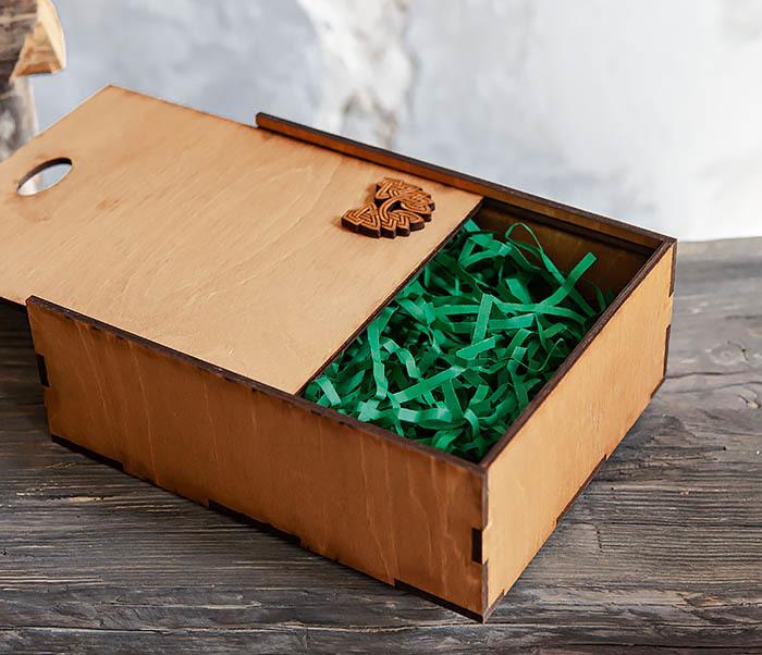 BOX231-2 Подарочная коробка формата А6 из дерева (19*15*6 см) фото 07