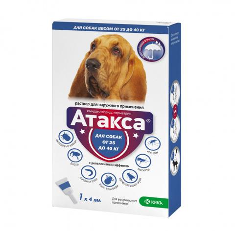Атакса 4 мл. капли для собак больше 25 кг