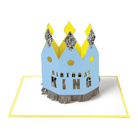 Открытка на День Рождения в виде короны