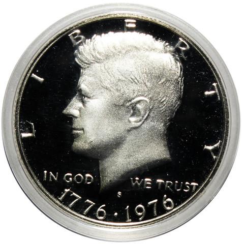 """50 центов 1976 год """"200 лет независимости"""" Джон Кеннеди. PROOF"""