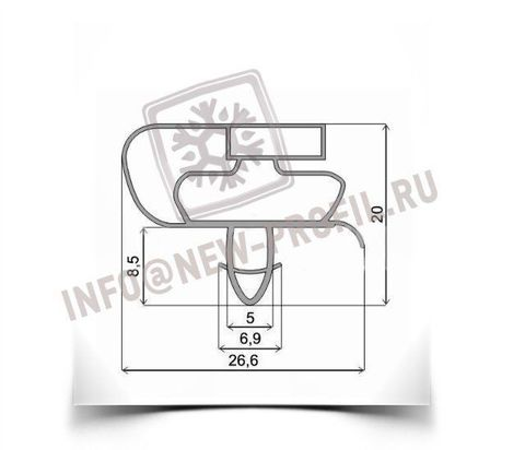 Уплотнитель 68*56 см для холодильника Атлант МХМ-1733-03 (морозильная камера) Профиль 021