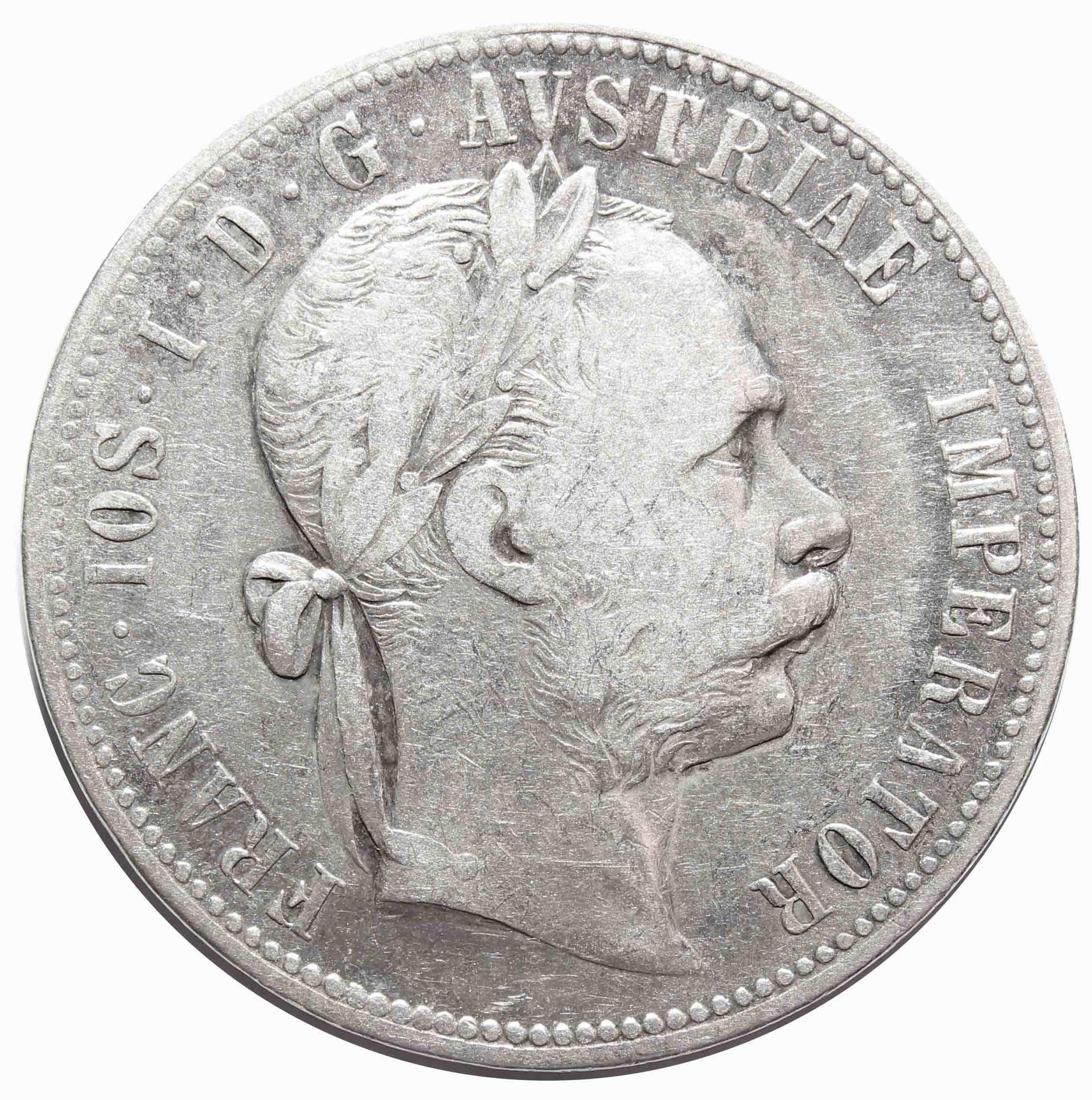 1 флорин 1878 год, Австрия. VF+