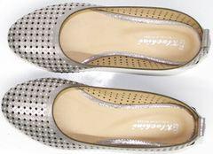 Закрытые босоножки на низком каблуке Kluchini 5219 k 365Titan.