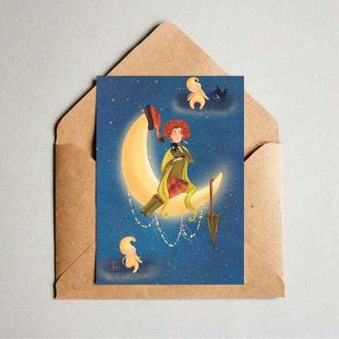 Фотография Открытка авторская почтовая «Леди Осень» / 10*15 см купить в магазине Афлора