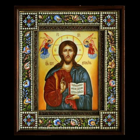 Икона финифть Господь Вседержитель