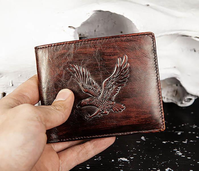 WL328-2 Портмоне с орлом из натуральной кожи фото 10