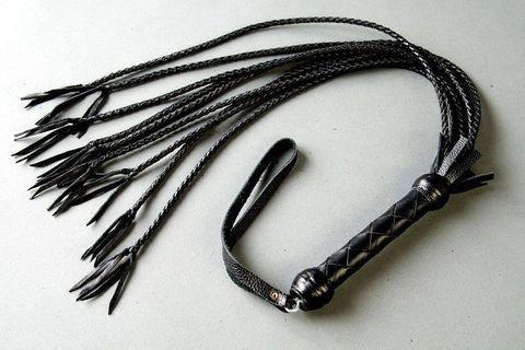 Плеть многохвостка из чёрной кожи