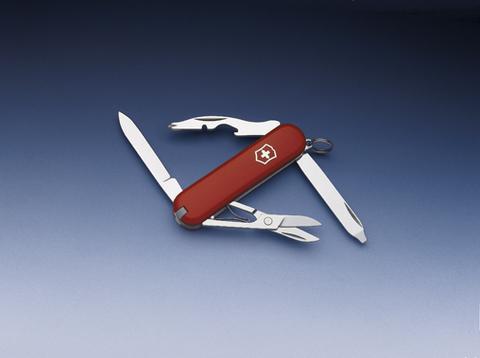 Нож-брелок Victorinox Classic Rambler, 58 мм, 10 функций, красный123