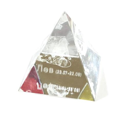 Пирамидка стекло с зодиаком большая
