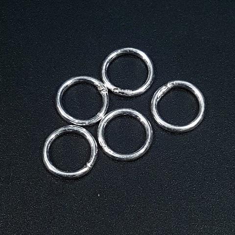 Колечко закрытое (спаянное) 9 мм серебро 925 1 шт