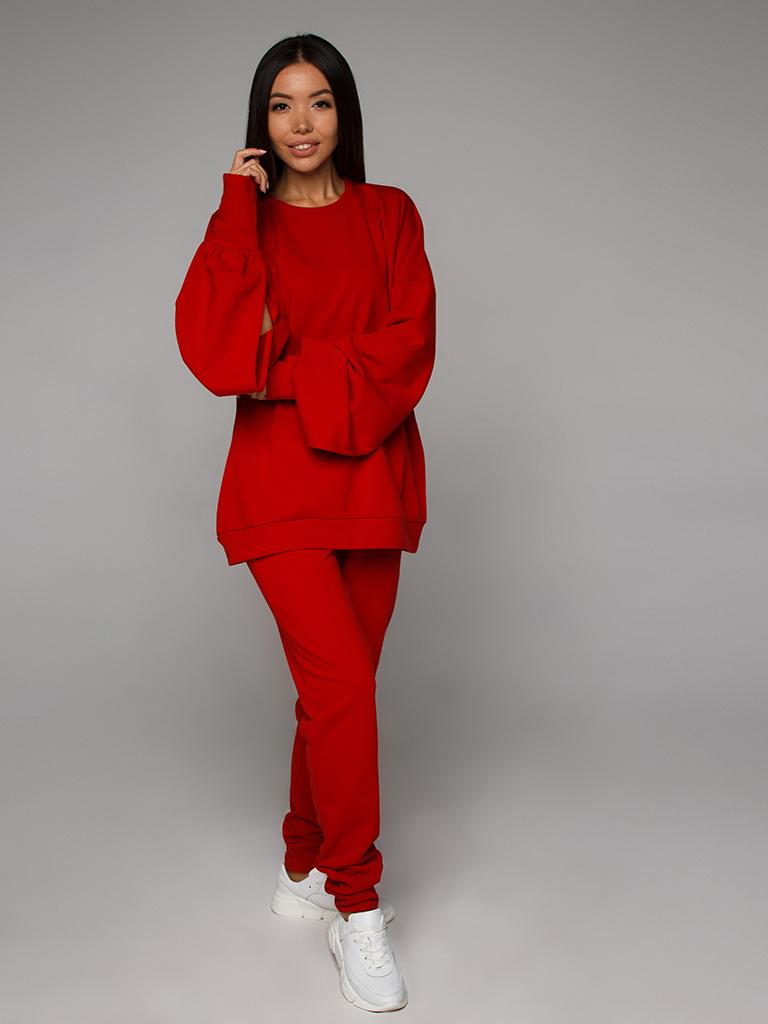 Cвитшот трикотажный красный YOS от украинского бренда Your Own Style