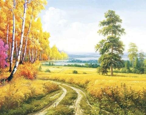 Алмазная Мозаика 40x50 Прогулка на природе (арт. TCH8312 )