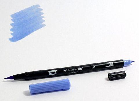 Маркер-кисть Tombow ABT Dual Brush Pen-533, синий переливчатый