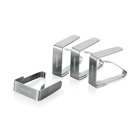Клипса для скатерти стальная PRESTO, 4 шт