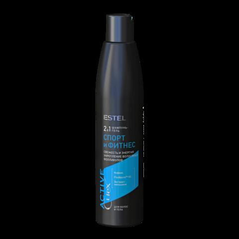 Шампунь-гель для волос и тела «Спорт и Фитнес» CUREX ACTIVE, 300 мл