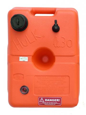 Канистра для топлива Nuova Rade Hulk, 30 л, 51 х 36 х 27 см, c указателем уровня топлива, красный