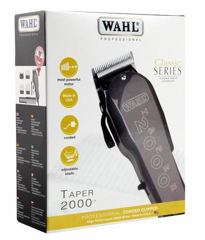 Машинка для стрижки Wahl Taper 2000, сетевая, 4 насадки, черная
