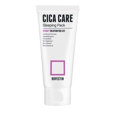 Ночная маска для чувствительной и повреждённой кожи, 80 мл / Rovectin Cica Care Sleeping Pack