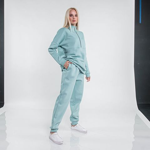 Warm joggers for woman - Sea Blue