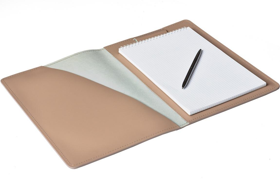 Папка под Блокнот А4 из кожи цвет CAFE LATTE