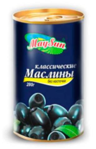 Маслины без косточек 280мл. MaySun