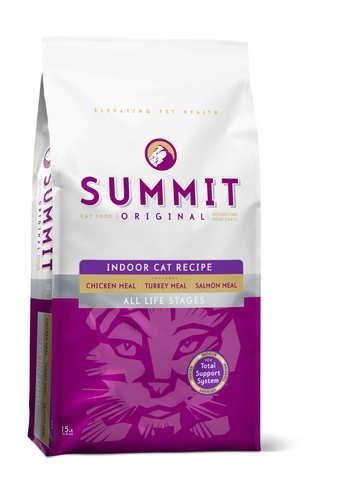 купить сухой корм Summit Для котят и кошек три вида мяса с цыпленком, лососем и индейкой Original 3 Meat, Indoor Cat Recipe CF