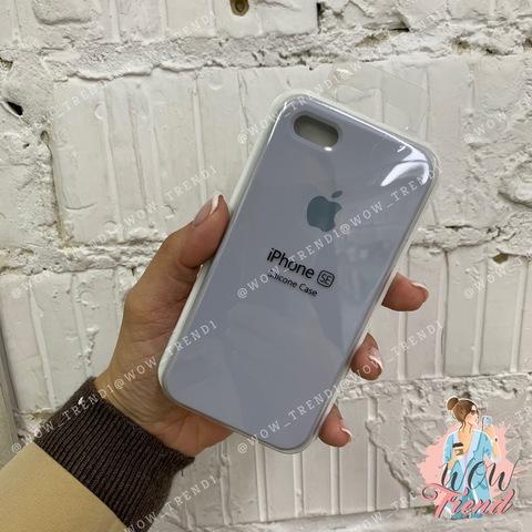 Чехол iPhone 5/5s/SE Silicone Case /mist blue/ голубой дым 1:1