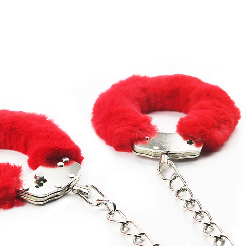 Поножи Fetish Pleasure Fluffy Leg Cuffs красные