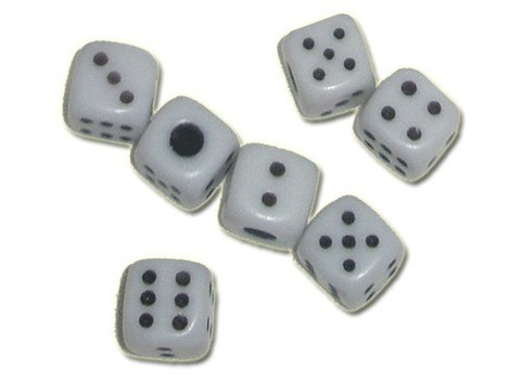 Кубик игровой белый №9. Продажа штуками.