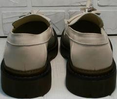 Красивые бежевые туфли на невысоком каблуке Markos S-6 Light Beige.