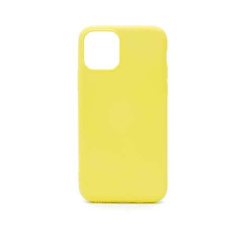 Чехол для iPhone 11 ProMax Софт тач мягкий эффект | микрофибра желтый #2