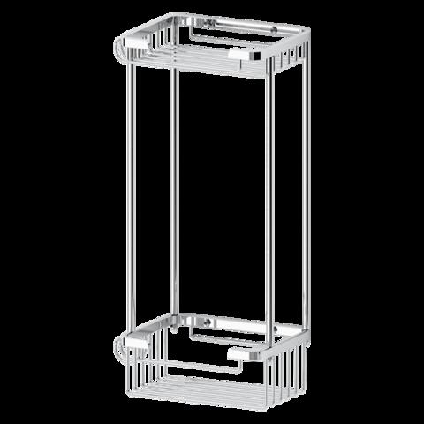 Полочка-решетка 2-х уровневая прямоугольная13х13 см RYNA   RYN017 FBS