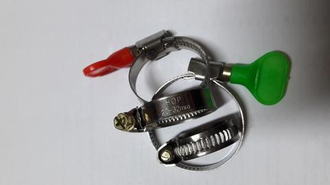 Хомут 16-27 мм с ключом W2