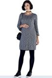 Платье для беременных и кормящих 09888 серый