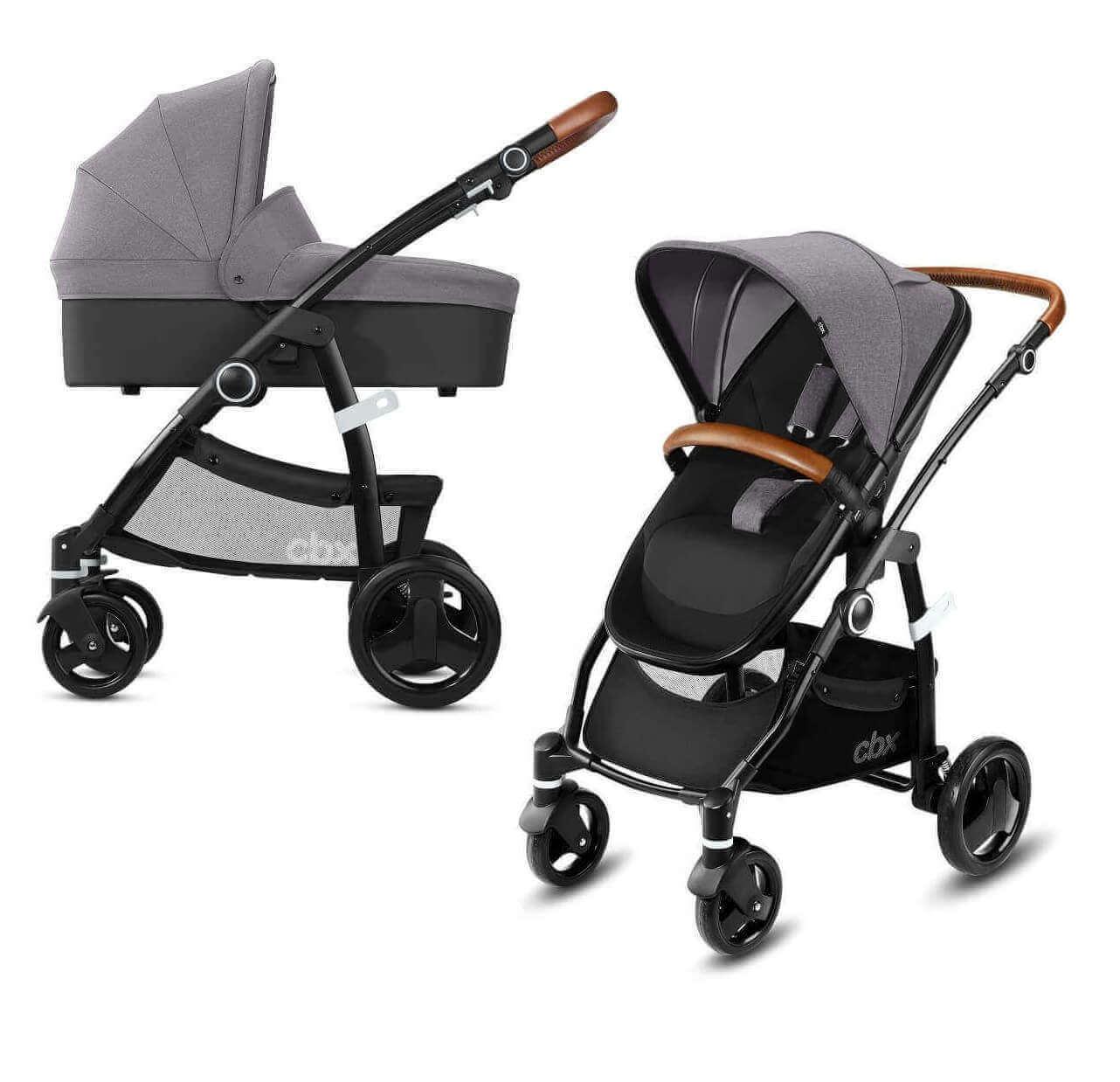 CBX by Cybex Leotie Lux 2 в 1 Детская коляска 2 в 1 CBX by Cybex Leotie Lux Comfy Grey CBX_18_090_LEOTIE_LUX_GREY_WITHCARRYCOT_0748_DERV_HQ_-_копия.jpg
